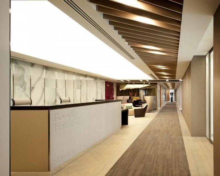 Reception area:
